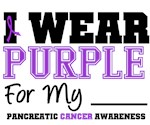 I Wear Purple Pancreatic Cancer T-Shirts & Gifts