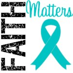 Faith Matters Teal Ribbon T-Shirts & Gifts