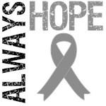 Always Hope Brain Cancer T-Shirts & Gifts