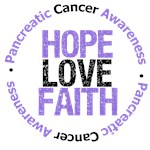 Pancreatic Cancer Hope Love Faith Shirts & Gifts