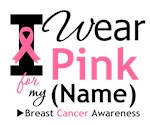 I Wear Pink Ribbon Breast Cancer Gifts & Shirts