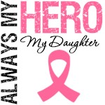 Breast Cancer Always My Hero My Daughter Shirts
