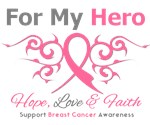 Breast Cancer Hero Tribal Ribbon Shirts