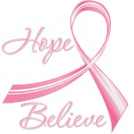 Hope Believe Breast Cancer Shirts
