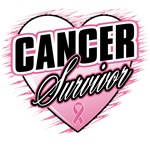 Breast Cancer Survivor Grunge Heart Shirts & Gifts