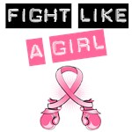 Fight Like A Girl Boxer Ribbon Tees