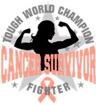 Uterine Cancer Tough Survivor Shirts
