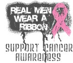 Real Men Wear a Pink Ribbon Shirts