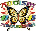 Autism Awareness Butterfly Shirts & Gifts