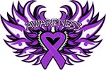 Pancreatic Cancer Heart Wings Shirts