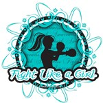 Ovarian Cancer Cool Fight Like A Girl Shirts
