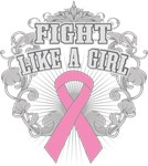 Breast Cancer Fight Like A Girl Fleurish Shirts