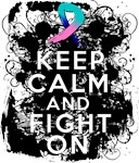 Thyroid Cancer Keep Calm and Fight On Shirts