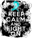 Ovarian Cancer Keep Calm and Fight On Shirts