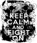 Brain Cancer Keep Calm Fight On Shirts