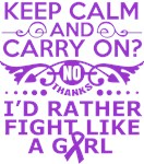 Pancreatic Cancer Keep Calm Fight Like A Girl Tee