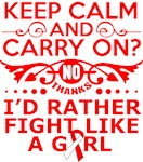 Oral Cancer Keep Calm & Fight Like A Girl Tees