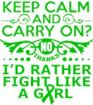  Kidney Cancer Keep Calm & Fight Like A Girl Tees