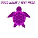 Custom Purple Sea Turtle