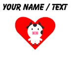 Cartoon Cow Heart