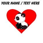 Custom Sitting Panda Heart