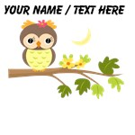 Custom Cartoon Owl on Branch