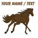 Custom Brown Stallion Trotting