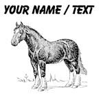 Custom Clydesdale Horse Sketch
