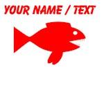 Custom Red Cartoon Fish