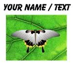 Custom Butterfly On Leaf