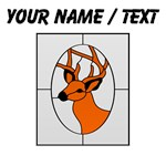 Custom Stained Glass Deer