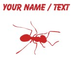 Custom Red Ant Silhouette