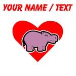 Custom Hippo Heart