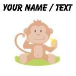Custom Monkey Eating Banana