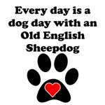 Old English Sheepdog Dog Day