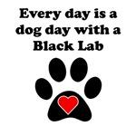 Black Lab Dog Day