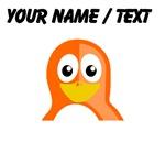 Custom Orange Penguin