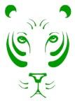 Green Tiger Face