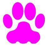 Pink Big Cat Paw Print
