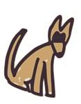 Brown Dog Drawing
