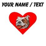 Custom Bulldog Heart