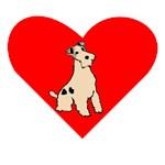 Wire Fox Terrier Heart