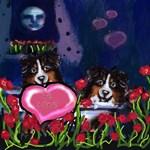 AUSTRALIAN SHEPHERD tri Valentine heart