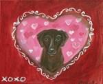Chocolate Labrador Valentine
