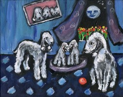 BEDLINGTON TERRIER family Design