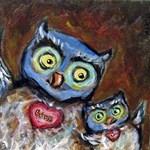 blue owl mom & baby
