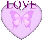 Love Butterfly Heart