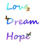 Love, Dream, Hope Butterflies