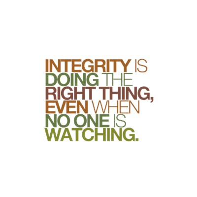 Integrity is doing the right thing, even when ...