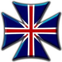 British Union Jack Maltese Biker Maltese Iron Chopper Cross